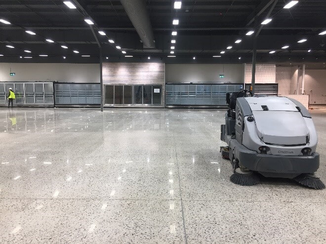 end of building cleaning